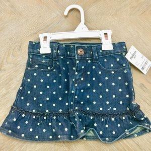 Osh Kosh B'Gosh Polka Dot Toddler Jean Skirt 5T